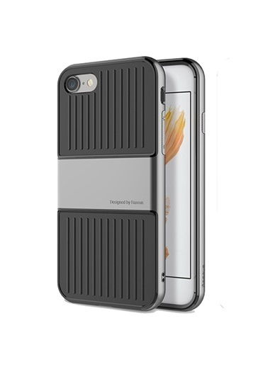 Baseus Iphone 7 / 8 / Se Travel Series Case Kılıf - Gri Renkli